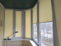 Кассетные рулонные шторы - фото работ