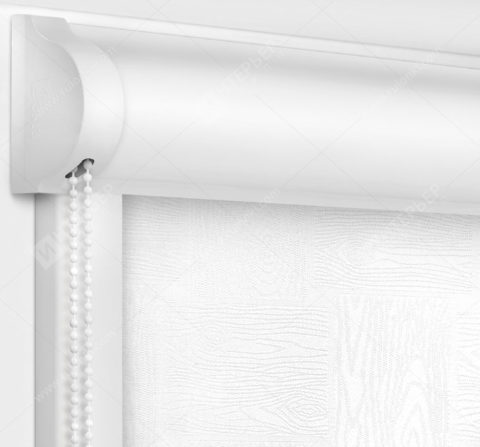 Рулонные кассетные шторы УНИ - Дриада белый