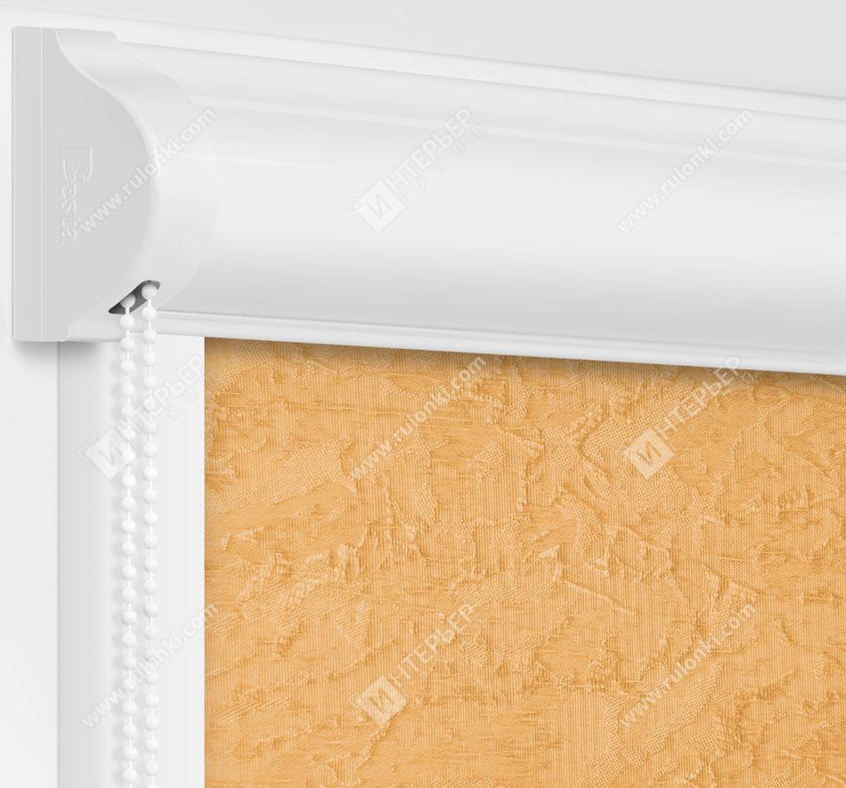 Рулонные кассетные шторы УНИ - Шелк капучино