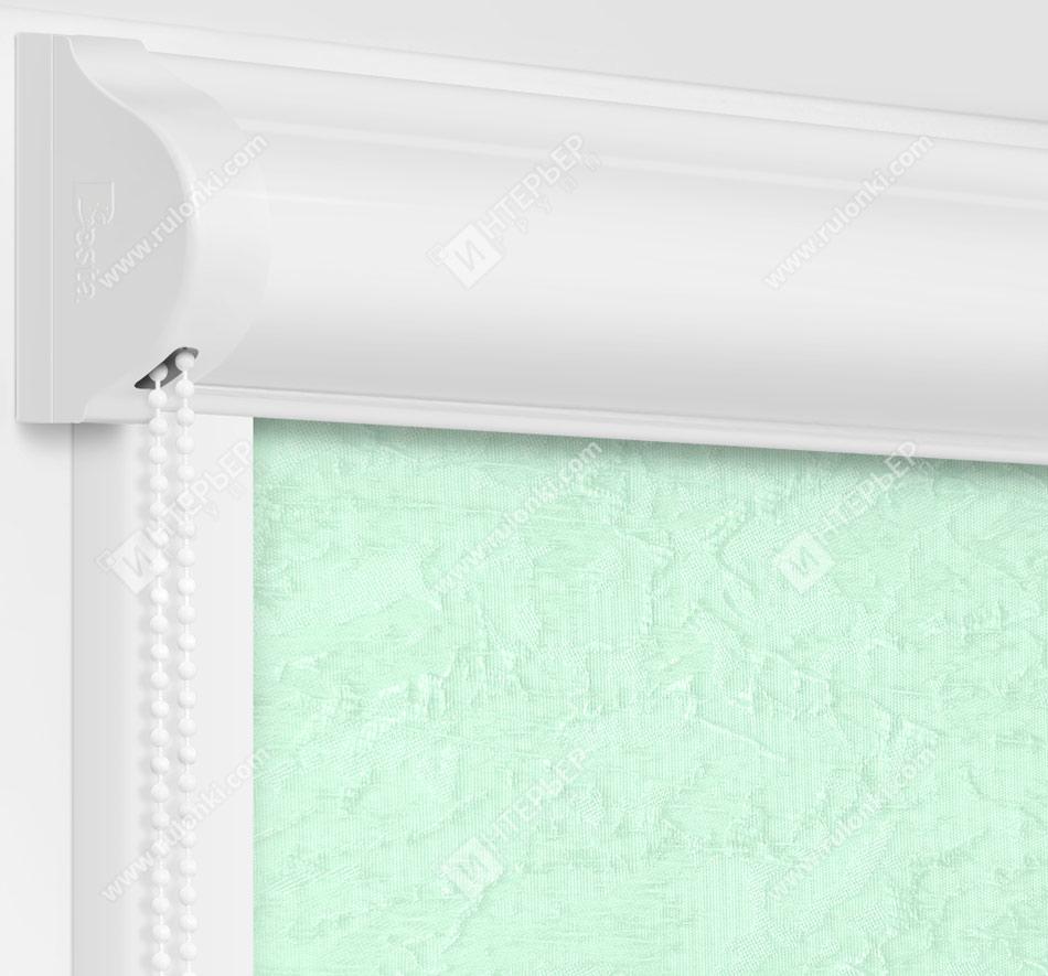 Рулонные кассетные шторы УНИ - Шелк салатовый