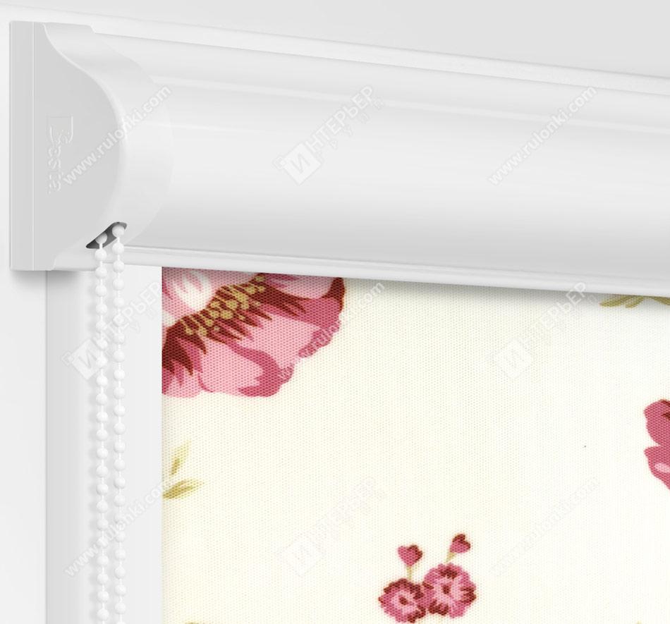Рулонные кассетные шторы УНИ - Болгарская роза розовый