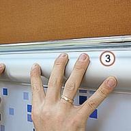 Монтаж рулонных кассетных штор Уни-2 без сверления