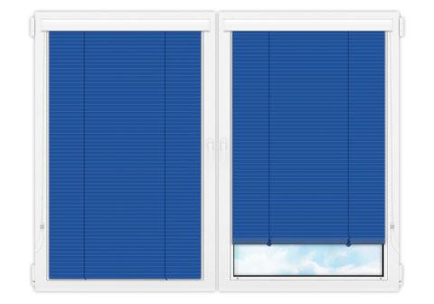 Жалюзи Изолайт 25 мм на пластиковые окна - цвет горечавково-синий