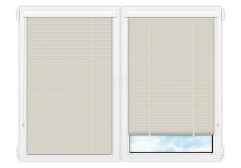 Жалюзи Изолайт 25 мм на пластиковые окна - цвет бледно-бирюзовый