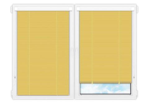 Жалюзи Изотра 25 мм на пластиковые окна - цвет цинково-желтый