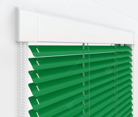 Жалюзи Изотра 25 мм на пластиковые окна - цвет зеленый