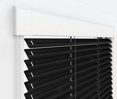 Жалюзи Изотра 25 мм на пластиковые окна - цвет черный