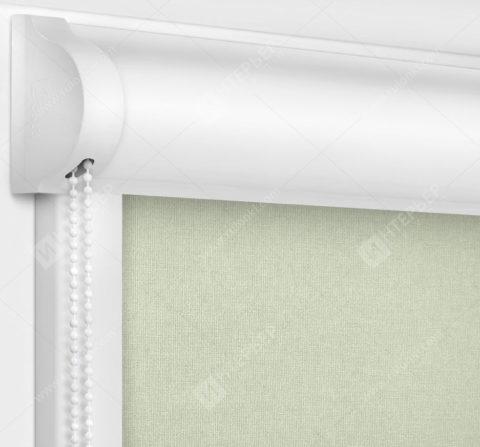 Рулонные кассетные шторы УНИ - Карина блэкаут бежевый