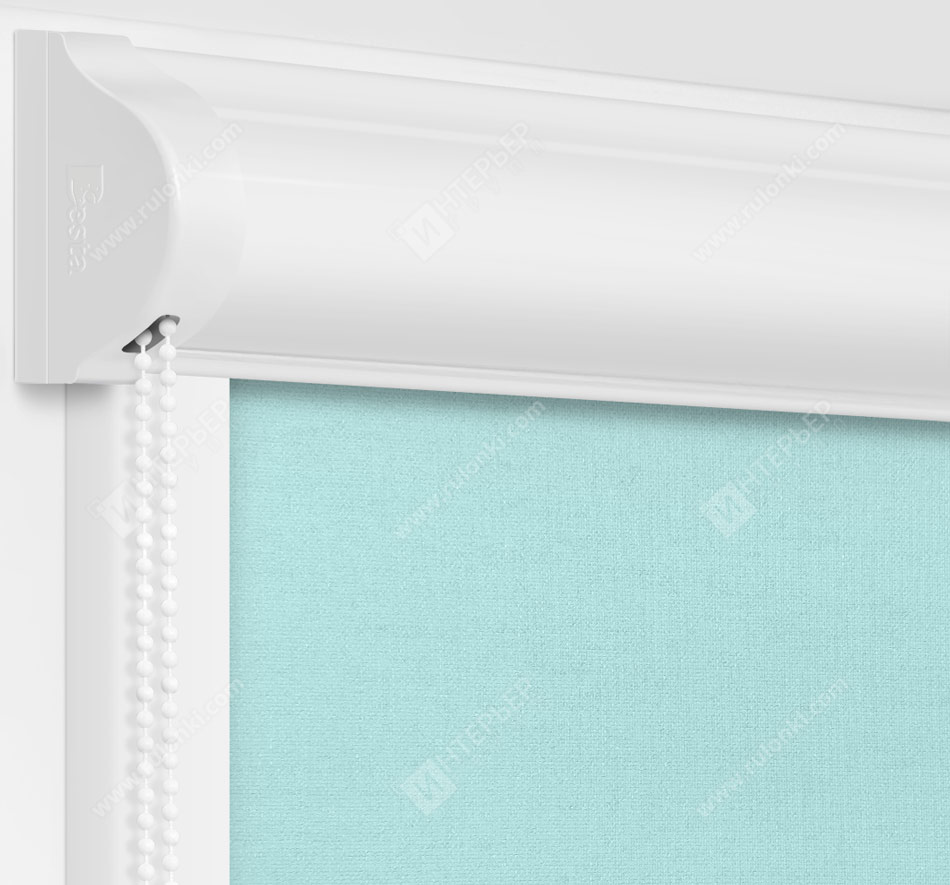Рулонные кассетные шторы УНИ - Карина голубой