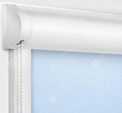 Рулонные кассетные шторы УНИ - Карина светло-голубой