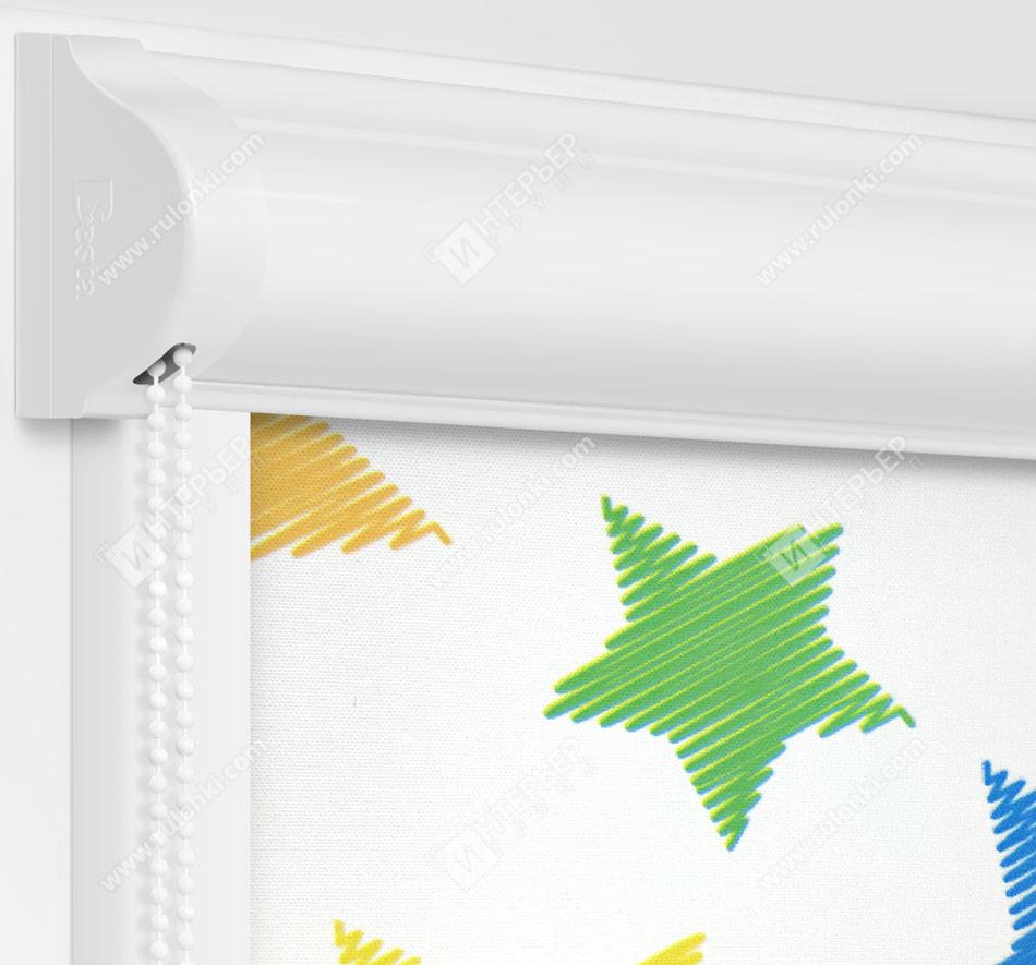 Рулонные кассетные шторы УНИ - Звездочки