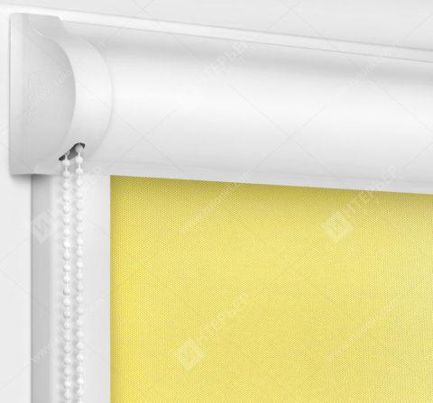 Рулонные кассетные шторы УНИ - Алегро Перл желтый