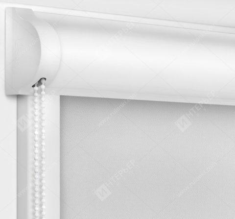 Рулонные кассетные шторы УНИ - Аллегро Перл серый