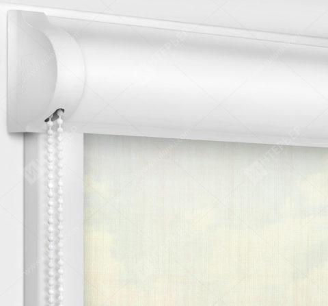 Рулонные кассетные шторы УНИ - Анже кремовый