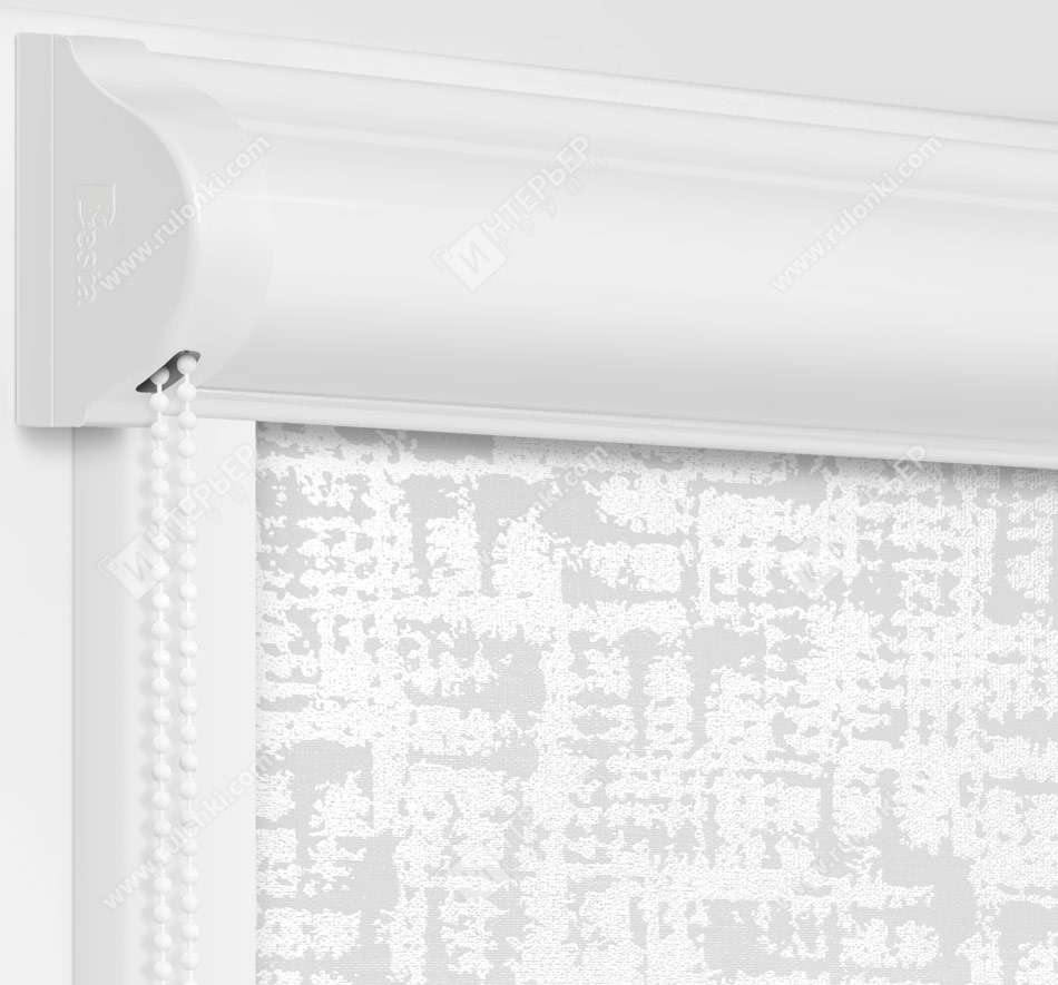 Рулонные кассетные шторы УНИ - Атико блэкаут серый