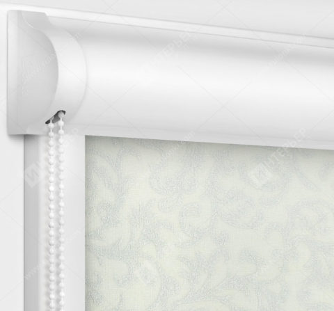 Рулонные кассетные шторы УНИ - Фрост белый