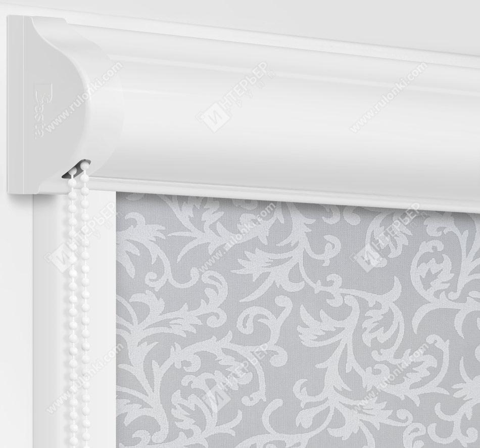 Рулонные кассетные шторы УНИ - Фрост серый