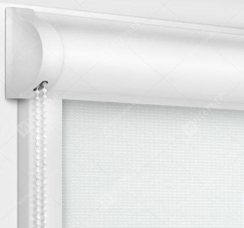 Рулонные кассетные шторы УНИ - Корсо блэкаут белый
