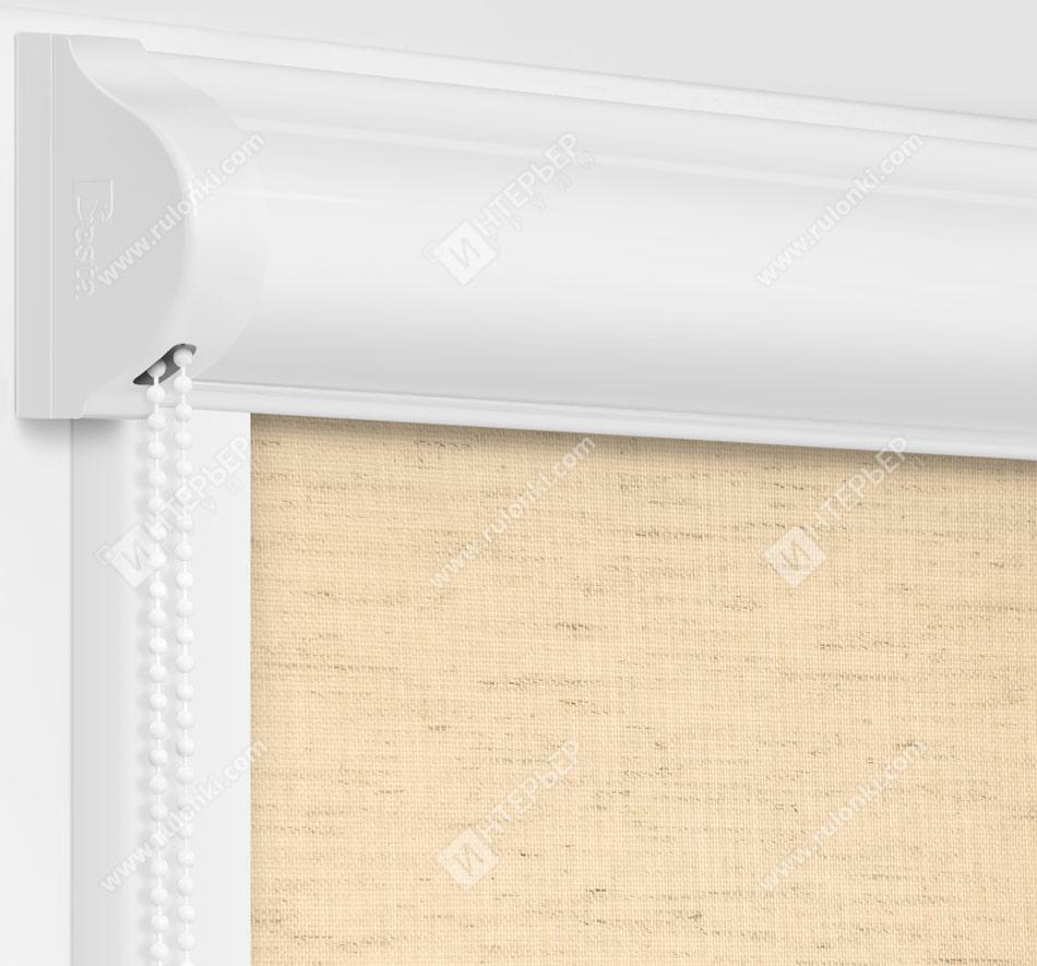 Рулонные кассетные шторы УНИ - Сахара песочный