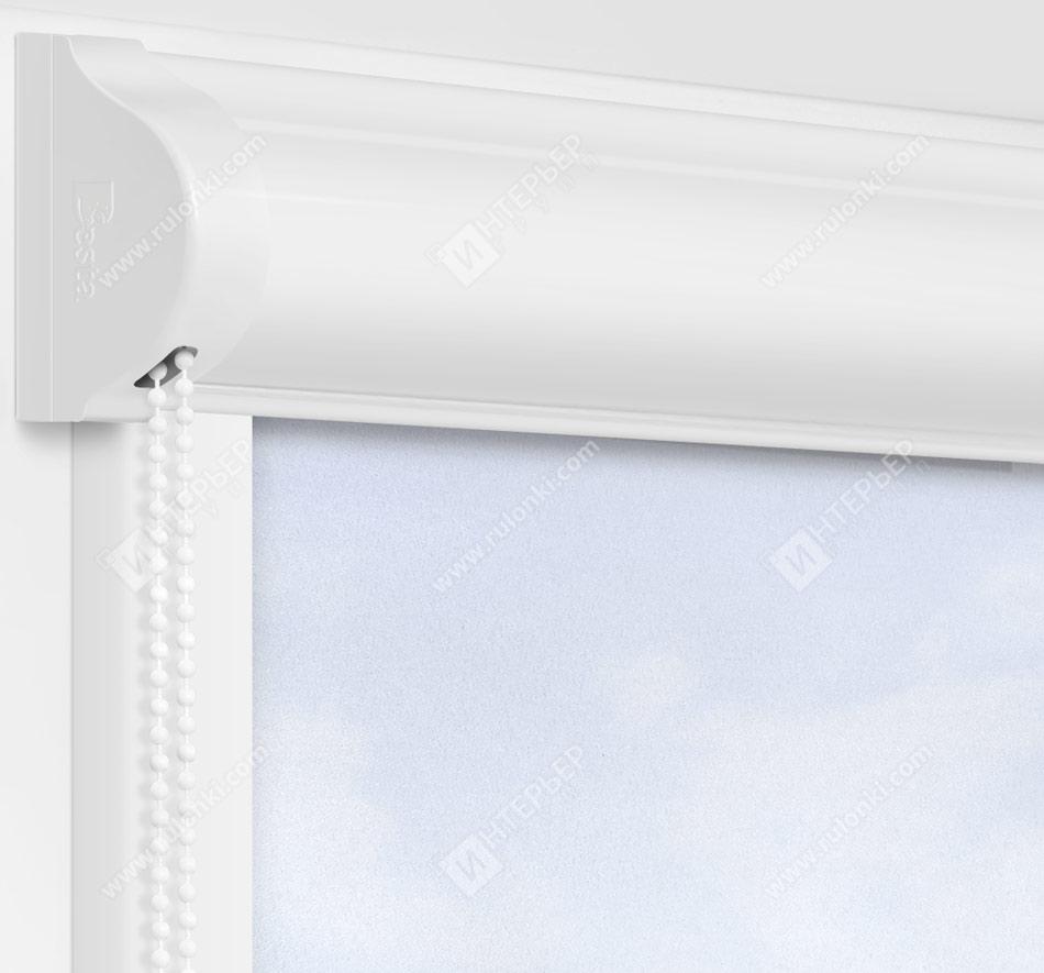 Рулонные кассетные шторы УНИ - Куба сиреневый