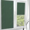 Рулонные кассетные шторы УНИ - Карина блэкаут темно-зеленый