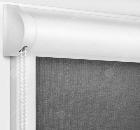 Рулонные кассетные шторы УНИ - Карина темно-серый