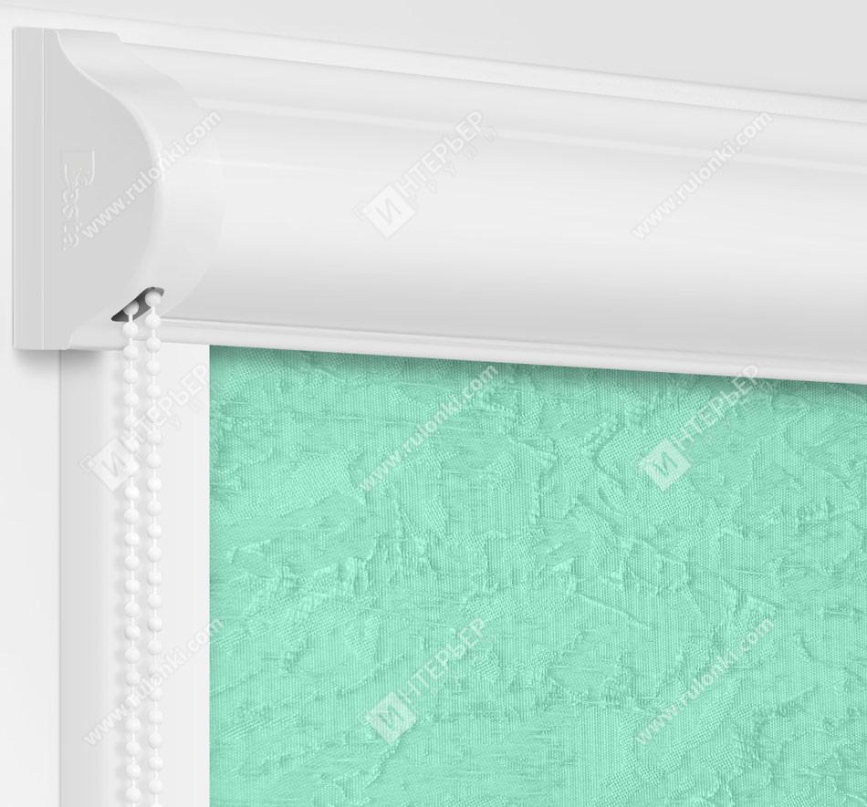 Рулонные кассетные шторы УНИ - Шелк бирюзовый