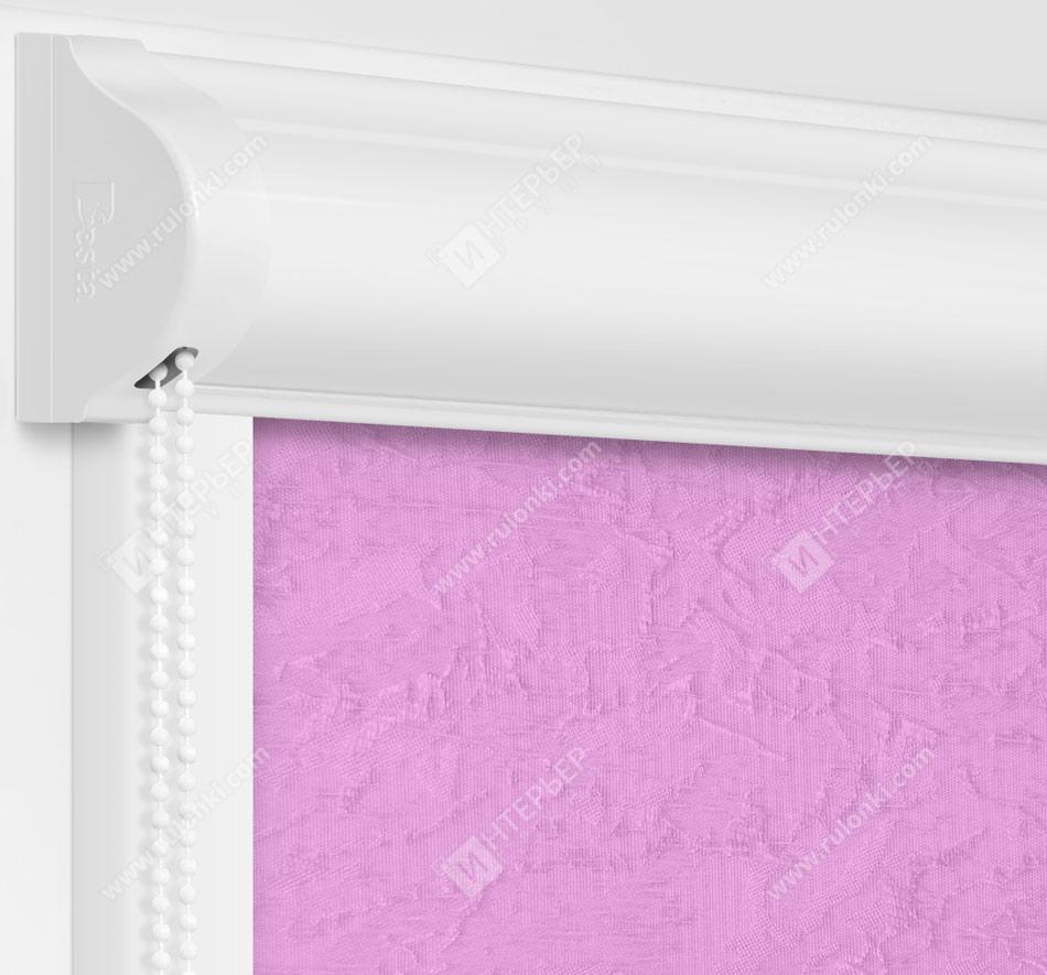 Рулонные кассетные шторы УНИ - Шелк сиреневый