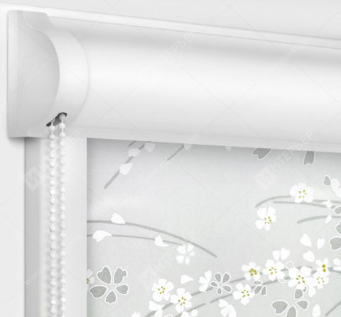 Рулонные кассетные шторы УНИ - Сакура серый