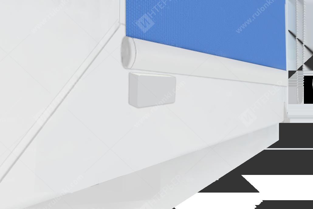 Комплект прямоугольных БЕЛЫХ магнитов на скотч, комплект (2 шт)