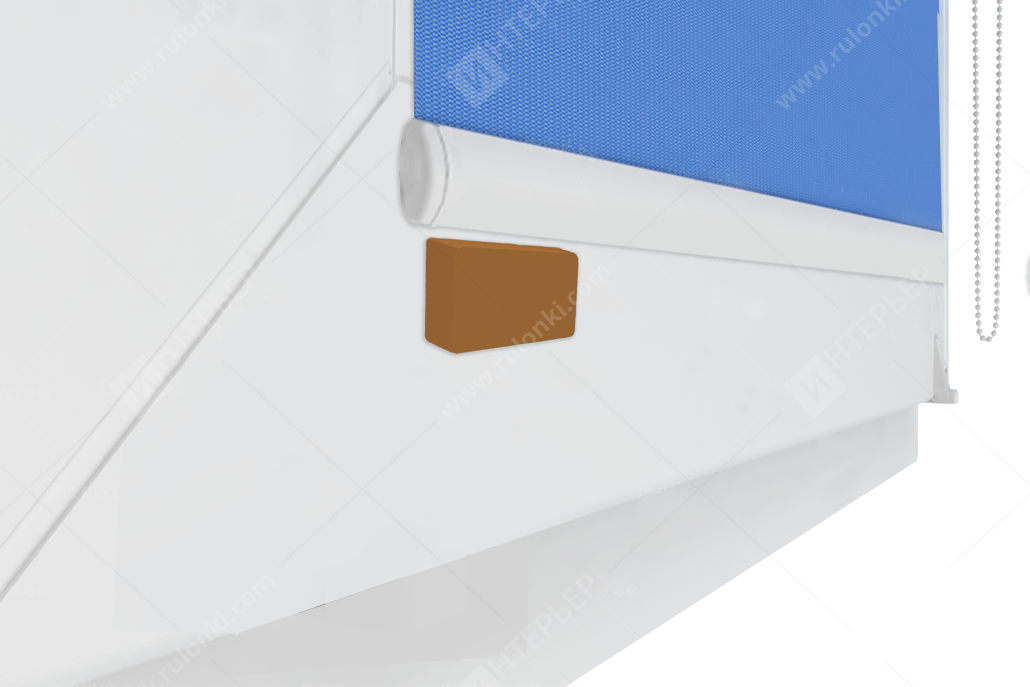 Комплект прямоугольных КОРИЧНЕВЫХ магнитов на скотч, комплект (2шт)