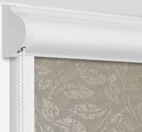 Рулонные кассетные шторы УНИ - Лейси серый на пластиковые окна