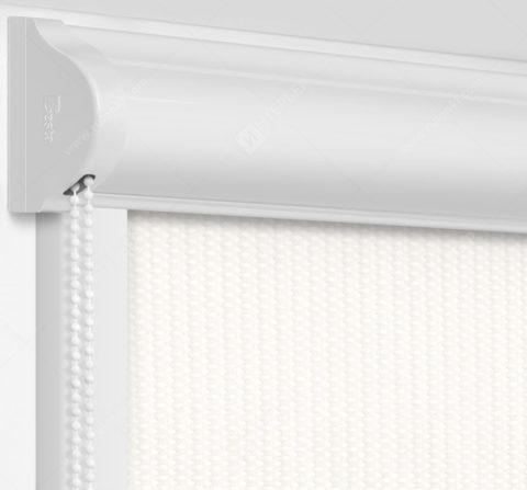 Рулонные кассетные шторы УНИ - Севилья молочный на пластиковые окна