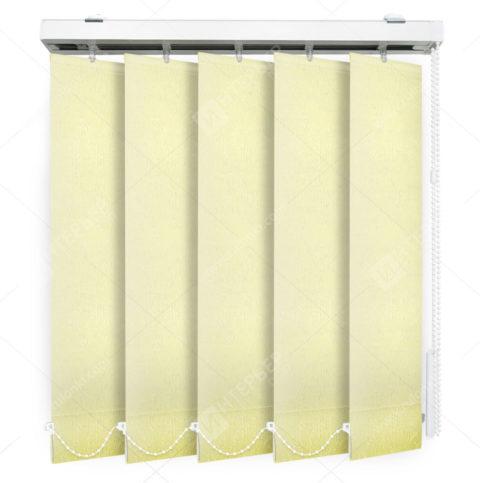 Вертикальные тканевые жалюзи Адель желтый