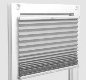Шторы Плиссе - Аскона светло-серый на пластиковые окна